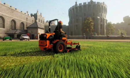 """Have you ever wondered what it's like to mow the grass? """"Lawn Mowing Simulator"""" comes on August 10th"""